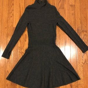 Theory mcClaini long sleeve wool blend dress